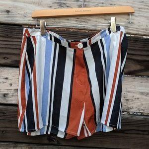 Boohoo Multi-Colored Striped Shorts Size 8